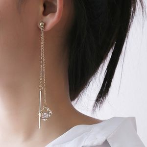 Unique Design//Diamond and String Style Earrings